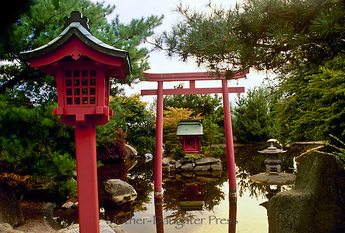 Asian garden, Buddhist, Washington State USA