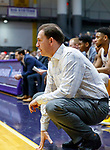 University at Albany men's basketball defeats Maine at the  SEFCU Arena, Feb. 24, 2018.  UAlbany coach Will Brown. (Bruce Dudek / Eclipse Sportswire)