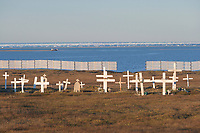 Cemetery in the Village of Kaktovik, Barter Island, Arctic Alaska