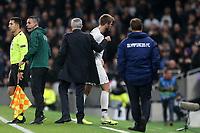 Eric Dier of Tottenham Hotspur is substituted during Tottenham Hotspur vs Olympiacos FC, UEFA Champions League Football at Tottenham Hotspur Stadium on 26th November 2019