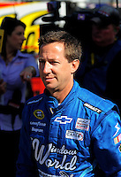 Feb 11, 2009; Daytona Beach, FL, USA; NASCAR Sprint Cup Series driver John Andretti during practice for the Daytona 500 at Daytona International Speedway. Mandatory Credit: Mark J. Rebilas-