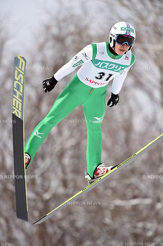 Taihei Kato (JPN),<br /> JANUARY 24, 2015 - Nordic Combined :<br /> FIS Nordic Combined World Cup Individual Gundersen LH HS134/10.0km at Okurayama Jump Stadium in Sapporo, Hokkaido, Japan. (Photo by Hitoshi Mochizuki/AFLO)