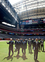 9/9/2010 : Members of the USA Bid Committee tour Reliant Stadium in Houston, Texas in preparation of the World Cup. Photo by Thomas Shea / ISI Photos