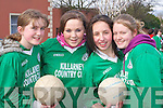 Heather O'Sullivan, Gillian Murphy, Rachel Evans, Aisling O'Meara in the parade in Milltown on Monday   Copyright Kerry's Eye 2008