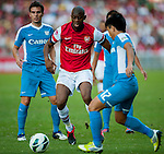 Vassirkiri Abou Diaby of Arsenal FC in action during the pre-season Asian Tour friendly match against Kitchee FC at the Hong Kong Stadium on July 29, 2012. Photo by Victor Fraile / The Power of Sport Images