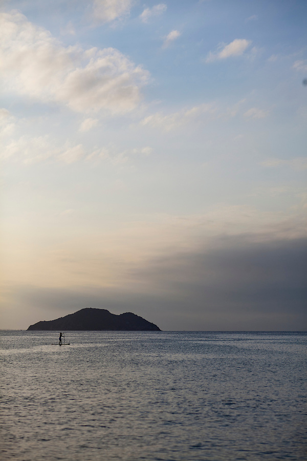 A view of one of several small islands that dot the coastline of Buzios.