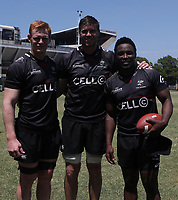 Philip van der Walt with Stephan Lewies  and Lwazi Mvovo during the cell c sharks pre season training session at  Growthpoint Kings Park ,22,01,2018 Photo by Steve Haag)