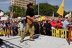 Musician Ted Nugent performs, Wednesday, April 15, 2009, at the Alamo in San Antonio. (Darren Abate/pressphotointl.com)