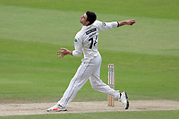 Duanne Olivier in bowling action for Yorkshire during Yorkshire CCC vs Essex CCC, Specsavers County Championship Division 1 Cricket at Emerald Headingley Cricket Ground on 5th June 2019