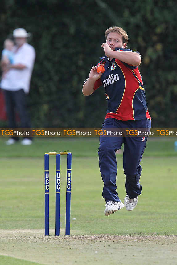 Graham Napier of Essex in action - Upminster CC vs Essex CCC - Graham Napier Benefit Match Cricket at Upminster Park - 09/09/12 - MANDATORY CREDIT: Gavin Ellis/TGSPHOTO - Self billing applies where appropriate - 0845 094 6026 - contact@tgsphoto.co.uk - NO UNPAID USE.