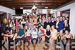 DOUBLE: On Saturday in Flahive Bar Ballyheigue Colm Horgan (seatyed 5th from left) who celebrated his 40th and Tara Buckley (seated 3rd from right) celebrated her 21st with their family and friends.