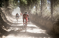 Mattia Frapporti (ITA/Androni Giocattoli - Sidermec)<br /> <br /> 14th Strade Bianche 2020<br /> Siena > Siena: 184km (ITALY)<br /> <br /> delayed 2020 (summer!) edition because of the Covid19 pandemic > 1st post-Covid19 World Tour race after all races worldwide were cancelled in march 2020 by the UCI