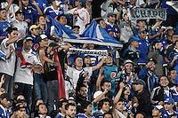 BOGOTA - COLOMBIA -08 -02-2017: Millonarios de Colombia y Atletico Paranaense de Brasil, en partido de la segunda fase llave 1 de la Copa Conmebol Libertadores Bridgestone jugado en el estadio Nemesio Camacho El Campin de la ciudad de Bogota. / Millonariosde Colombia and Atletico Paranaense of Brasil, in a match for the second phase, key 1, of Conmebol Copa Libertadores Bridgestone 2017 played at Nemesio Camacho El Campin stadium in Bogota city. Photo: VizzorImage / Gabriel Aponte / Staff.