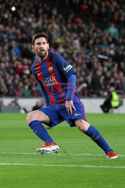 Copa del Rey 2016/2017 - 1/8 final vuelta.<br /> FC Barcelona vs Athletic Club: 3-1.<br /> Lionel Messi.