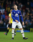Everton's Ross Barkley looks on dejected during the Premier League match at Vicarage Road Stadium, London. Picture date December 10th, 2016 Pic David Klein/Sportimage