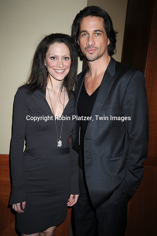 Michael Easton and wife Genevra..at The League for the Hard of Hearing's 16th Annual Feast with Famous Faces Benefit on October 27, 2008 at Pier Sixty at Chelsea Piers.....Robin Platzer, Twin Images