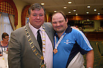 Brendan Carroll with Mayor Paul Bell at the Special Olympics Summer Party in the Boyne Valley Hotel...Photo NEWSFILE/Jenny Matthews.(Photo credit should read Jenny Matthews/NEWSFILE)....This Picture has been sent you under the condtions enclosed by:.Newsfile Ltd..The Studio,.Millmount Abbey,.Drogheda,.Co Meath..Ireland..Tel: +353(0)41-9871240.Fax: +353(0)41-9871260.GSM: +353(0)86-2500958.email: pictures@newsfile.ie.www.newsfile.ie.FTP: 193.120.102.198.