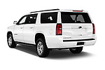 Car pictures of rear three quarter view of 2018 Chevrolet Suburban LS 5 Door SUV Angular Rear