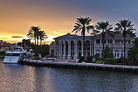 A Fort Lauderdale, Florida mansion at sunset, Taken during a dinner cruise.