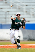 Dartmouth Big Green infielder Nick Lombardi (20) during a game against the Long Island Blackbirds at Chain of Lakes Stadium on March 17, 2013 in Winter Haven, Florida.  Dartmouth defeated UAB 11-4.  (Mike Janes/Four Seam Images)