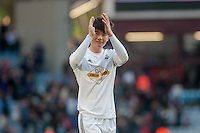 BIRMINGHAM, ENGLAND - MARCH 21: Ki Sung-Yueng of Swansea City applauds fans  during the Barclays Premier League match between Aston Villa and Swansea City at Villa Park on March 21, 2015 in Birmingham, England. (Photo by Athena Pictures/Getty Images)