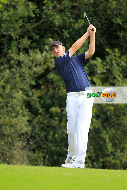 Thomas Mulligan (Leinster) on the 4th tee during the Boys Under 15 Interprovincial Championship Afternoon Round at the West Waterford Golf Club on Wednesday 22nd August 2013 <br /> Picture:  Thos Caffrey/ www.golffile.ie