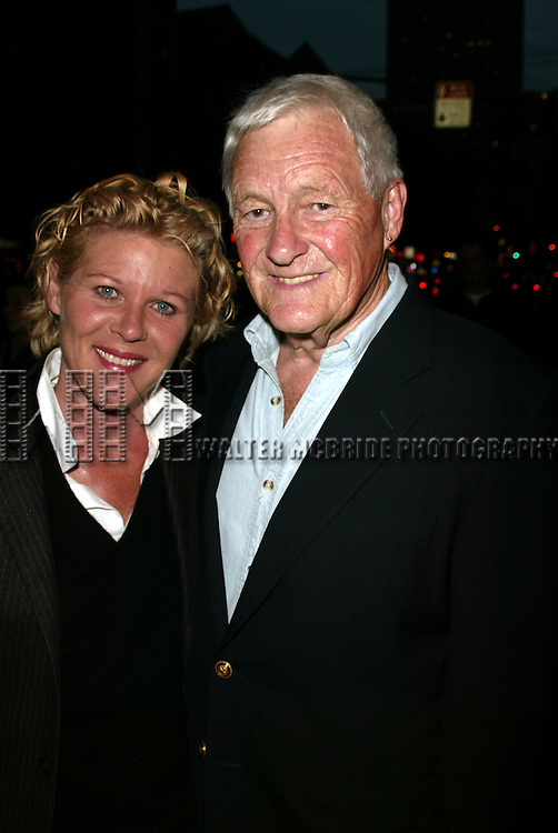 Orson Bean and Alley Mills on their way to dinner, walking on Eighth Avenue and West 45th Street in New York City..April 22, 2004.© Walter McBride /