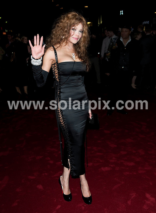 **ALL ROUND PICTURES FROM SOLARPIX.COM**.**WORLDWIDE SYNDICATION RIGHTS**.Arrivals for the UK Film Premiere of The Imaginarium of Doctor Parnassus, at the Empire Leicester Square, London, UK. 6 October 2009..This pic: LaToya Jackson..JOB REF: 10077 RSR       DATE: 06_10_2009.**MUST CREDIT SOLARPIX.COM OR DOUBLE FEE WILL BE CHARGED**.**MUST NOTIFY SOLARPIX OF ONLINE USAGE**.**CALL US ON: +34 952 811 768 or LOW RATE FROM UK 0844 617 7637**