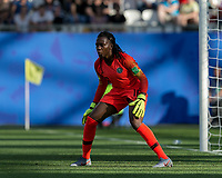 GRENOBLE, FRANCE - JUNE 22: Chiamaka Nnadozie #16 of the Nigerian National Team during a game between Nigeria and Germany at Stade des Alpes on June 22, 2019 in Grenoble, France.