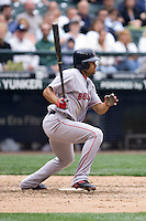 July 23, 2008: Coco Crisp of the Boston Red Sox at-bat during a game against the Seattle Mariners at Safeco Field in Seattle, Washington.