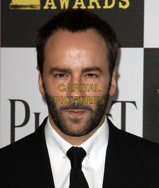 TOM FORD .25th Annual Film Independent Spirit Awards held At The Nokia LA Live, Los Angeles, California, USA,.March 5th, 2010 ..arrivals Indie Spirit  portrait headshot black tie beard facial hair stubble white shirt  .CAP/ADM/KB.©Kevan Brooks/Admedia/Capital Pictures