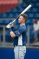 Carl Chester (9) of the Princeton Rays during batting practice prior to the game against the Danville Braves at American Legion Post 325 Field on June 25, 2017 in Danville, Virginia.  The Braves walked-off the Rays 7-6 in 11 innings.  (Brian Westerholt/Four Seam Images)
