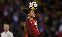Columbus, Ohio - Thursday March 01, 2018: Carli Lloyd during a 2018 SheBelieves Cup match between the women's national teams of the United States (USA) and Germany (GER) at MAPFRE Stadium.