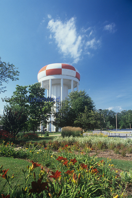 A city water tower.