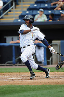 Staten Island Yankees outfielder Ravel Santana (11) during game against the Hudson Valley Renegades at Richmond County Bank Ballpark at St.George on June 24, 2012 in Staten Island, NY.  Staten Island defeated Hudson Valley 9-1.  Tomasso DeRosa/Four Seam Images