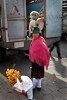 Street photography in Zumbahua, during the market day, showing the life of the town.