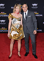 10 October  2017 - Hollywood, California - Sunrise Coigney, Mark Ruffalo. World Premiere of &quot;Thor: Ragnarok&quot; held at The El Capitan Theater in Hollywood. <br /> CAP/ADM/BT<br /> &copy;BT/ADM/Capital Pictures