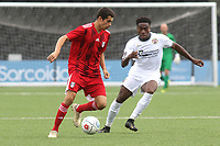 Fulham's Ryan De Havilland in action during Bromley vs Fulham, Friendly Match Football at the H2T Group Stadium on 6th July 2019