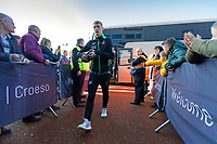 Jay Fulton of Swansea City arrives prior to the game during the Sky Bet Championship match between Swansea City and Cardiff City at the Liberty Stadium, Swansea, Wales, UK. Sunday 27 October 2019