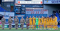 The Preston North End players line up to respect a minute silence before kick off<br /> <br /> Photographer David Shipman/CameraSport<br /> <br /> The EFL Sky Bet Championship - Ipswich Town v Preston North End - Saturday 3rd November 2018 - Portman Road - Ipswich<br /> <br /> World Copyright &copy; 2018 CameraSport. All rights reserved. 43 Linden Ave. Countesthorpe. Leicester. England. LE8 5PG - Tel: +44 (0) 116 277 4147 - admin@camerasport.com - www.camerasport.com
