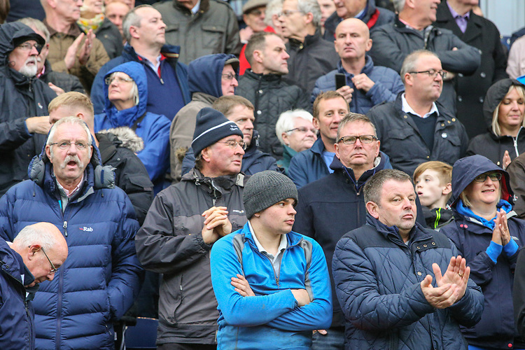 Preston North End fans take their seats before the match<br /> <br /> Photographer Alex Dodd/CameraSport<br /> <br /> The EFL Sky Bet Championship - Preston North End v Brentford - Saturday 28th October 2017 - Deepdale Stadium - Preston<br /> <br /> World Copyright &copy; 2017 CameraSport. All rights reserved. 43 Linden Ave. Countesthorpe. Leicester. England. LE8 5PG - Tel: +44 (0) 116 277 4147 - admin@camerasport.com - www.camerasport.com