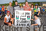 The O'Leary family at the start of the Paud O Leary and Willie Reen Tour of Sliabh Luachra on Saturday l-r: Sean Óg, Aeneas, Eoin, Margaret, Dermot, Mairead, Loretto and Maura O'Leary