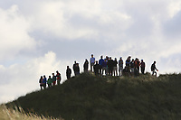 Fans watching the play on the 16th tee during the Munster Final of the AIG Senior Cup at Tralee Golf Club, Tralee, Co Kerry. 12/08/2017<br /> <br /> Picture: Golffile | Thos Caffrey<br /> <br /> All photo usage must carry mandatory copyright credit     (&copy; Golffile | Thos Caffrey)