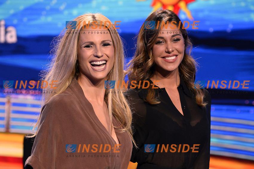 Michelle Hunziker, Belen Rodriguez<br /> Milano 22-09-2016 - photocall trasmissione Tv Striscia la notizia <br /> foto Daniele Buffa/Image/Insidefoto