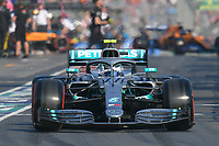 March 16, 2019: Valtteri Bottas (FIN) #77 from the Mercedes AMG Petronas Motorsport team leaves the pit to start the qualification session at the 2019 Australian Formula One Grand Prix at Albert Park, Melbourne, Australia. Photo Sydney Low