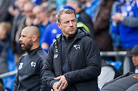 Derby County manager Gary Rowett ahead of the Sky Bet Championship match between Cardiff City and Derby County at Cardiff City Stadium, Cardiff, Wales on 30 September 2017. Photo by Mark  Hawkins / PRiME Media Images.