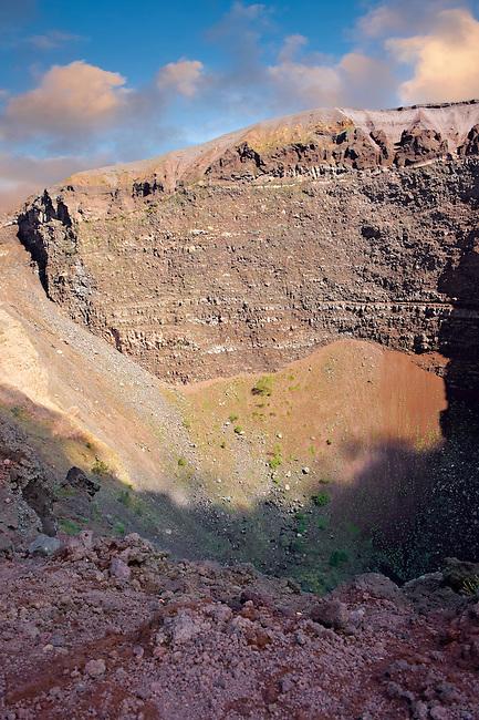 The volcanic crater of Mount Vesuvius, Italy