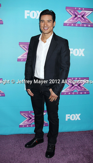 LOS ANGELES, CA - DECEMBER 17: Mario Lopez attends  'The X Factor' season finale press conference at CBS Studios on December 17, 2012 in Los Angeles, California.