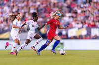 PHILADELPHIA, PA - AUGUST 29: Julie Ertz #8 of the United States sprints upfield during a game between Portugal and the USWNT at Lincoln Financial Field on August 29, 2019 in Philadelphia, PA.