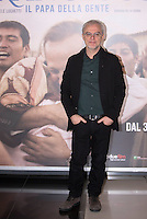 Il regista Daniele Luchetti posa durante un photo call per la presentation del suo film 'Chiamatemi Francesco - Il Papa della Gente' a Roma, 26 novembre 2015.<br /> Italian director Daniele Luchetti poses during a photo call for the presentation of his movie 'Chiamatemi Francesco - Il Papa della Gente' ('Call me Francis - People's Pope) in Rome, 26 November 2015.<br /> UPDATE IMAGES PRESS/Riccardo De Luca
